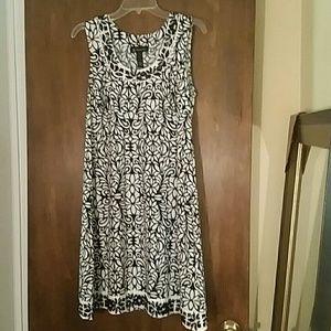 INC black and white beaded dress